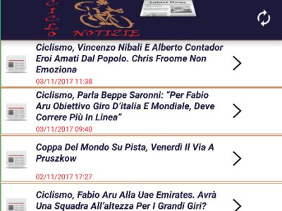 APP Android Notizie di Ciclismo
