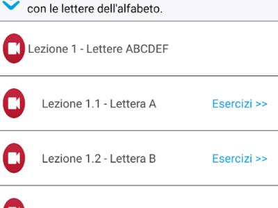 App Android per imparare la lingua Italiana